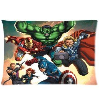 The Avengers Captain America Hulk Batman and Thor Series Custom Zippered Pillow Cases 20x30 One Side Printed