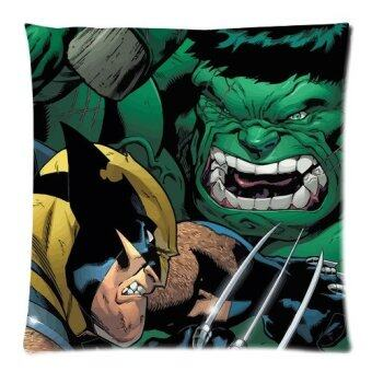 The Avengers Series Hulk and Batman Custom Zippered Pillow Cases 18x18 Twin sides Printed