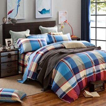 The queen/King size bedding set 4pcs 100% cotton pillowcase duvet cover bed sheet