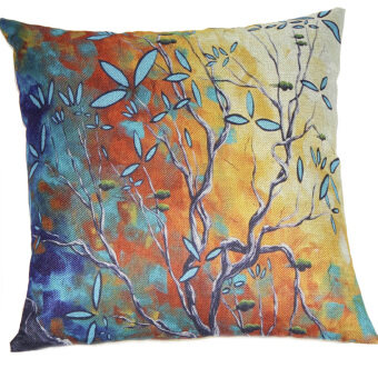 Tree Throw Pillow Cove (Multicolor)