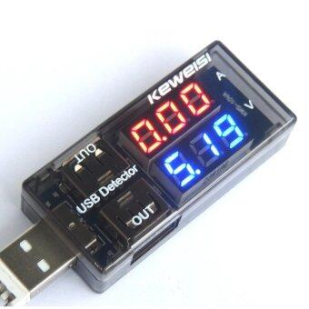 USB Charger Current Voltage Charging Detector Charger Voltmeter Ammeter Black - intl
