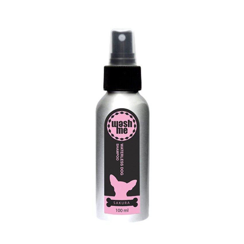 WashMe Waterless Dog Shampoo แชมพูอาบแห้งสำหรับสุนัข กลิ่นซากุระ, สเปรย์ 100ml ...