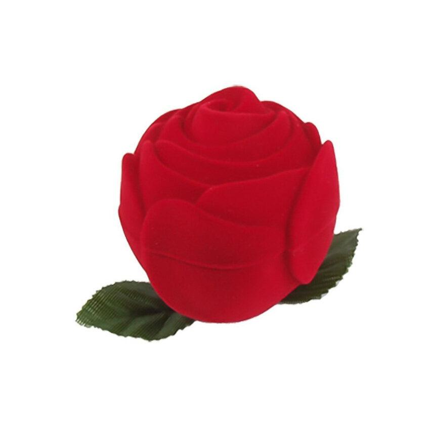 Wedding Gift Red Rose Design Promise Ring Box Holder
