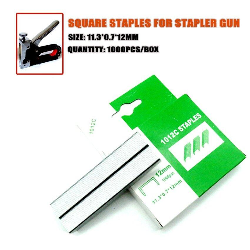 Wholesales Thick Staples Office Home Stationery Nails Used In Manual Nailer 1000pcs/box Size11.3x12mm HW299 - intl