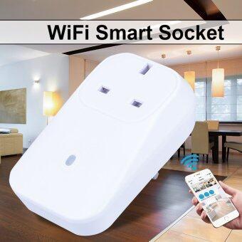 Wifi Smart Power Plug ควบคุมด้วยโทรศัพท์มือถือ ด้วย iOS / Android App (UK Plug) AH181