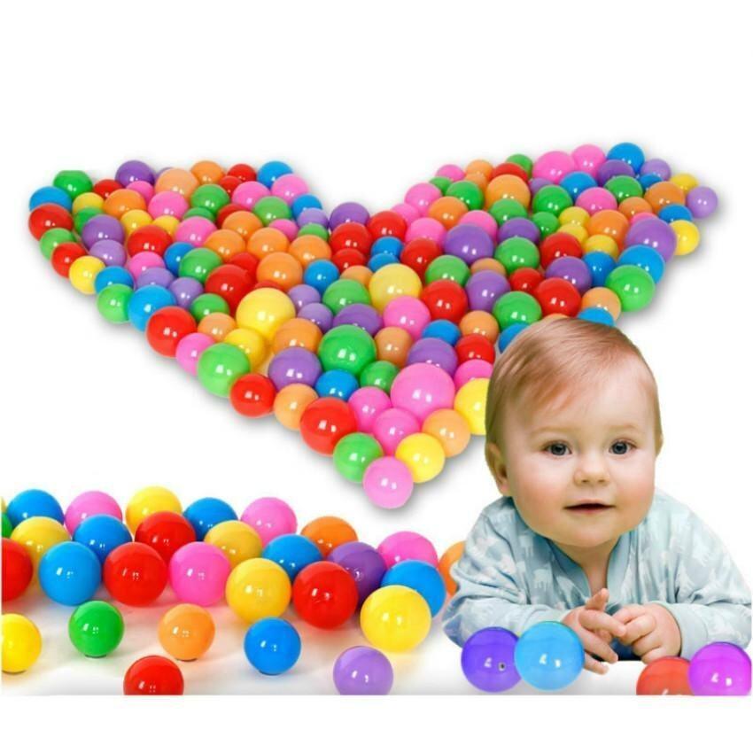 100Pcs/Bag Children Plastic Water Balloons Flat Balls Kids Swimming Pool Play Balls Bath Ball Pits Inflatable Stress Beach Ball-8CM - intl