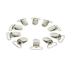 10pcs Metal Suspender Pacifier Holder Craft Mitten Clips Silver Tone Ring (Intl) ส่งฟรี