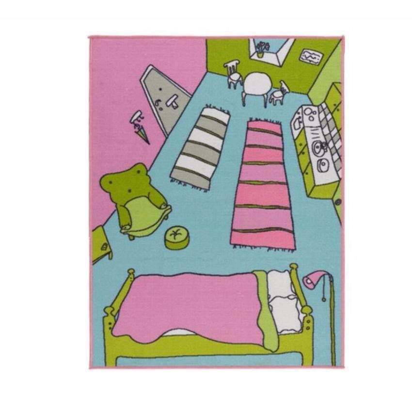 พรมขนสั้นปูพื้นห้องนอนเด็ก พรมตกเเต่งห้อง-ขนาด 133*100 ซ.ม -CK