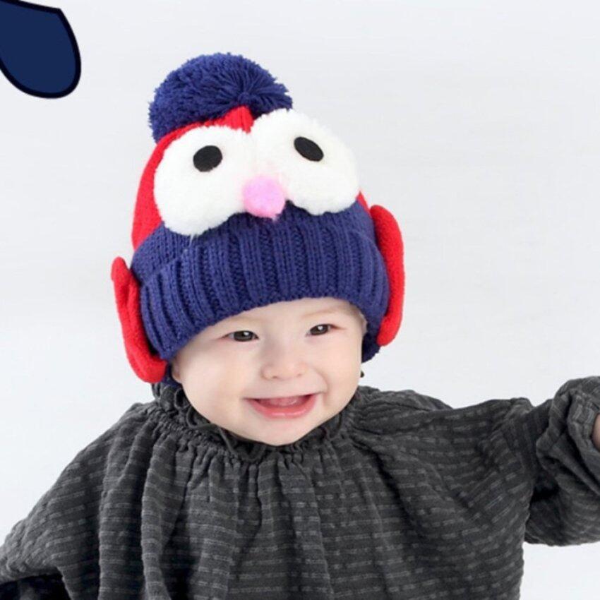 2017 Children Winter Warm Knit Big Eyes Penguin Cap Baby Warm Hat Child Ear Cap - intl ...