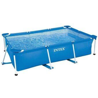 สระน้ำสี่เหลี่ยม เฟรม 220x150x60cm Small Rectangular Frame Pool INTEX