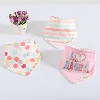 3Pcs NEW Baby Bibs for Children 3Pcs/lot Baby Girl Boy Bib Cotton Bavoir Bandana Bibs Baberos Baby Feeding Burp Cloth Moms Care Towel - intl