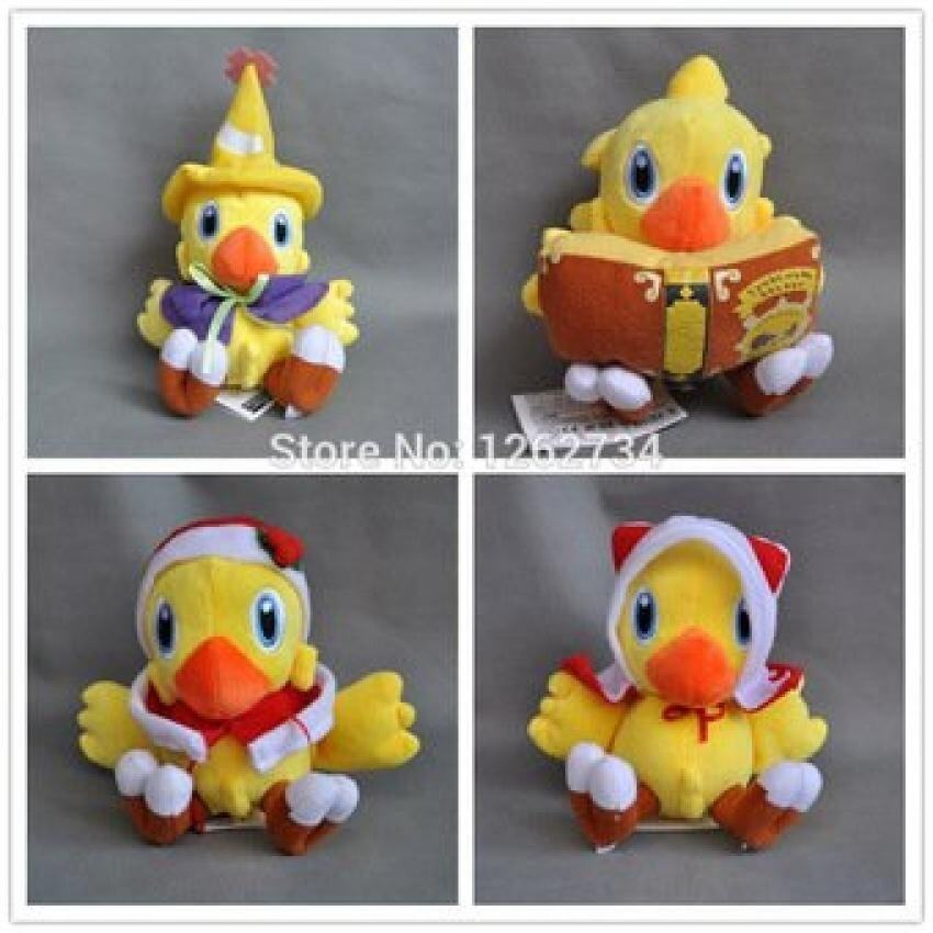 "4X Final Fantasy Vii Mage Xmas Chocobo 6-9"" Plush doll Stuffed Toy - intl"