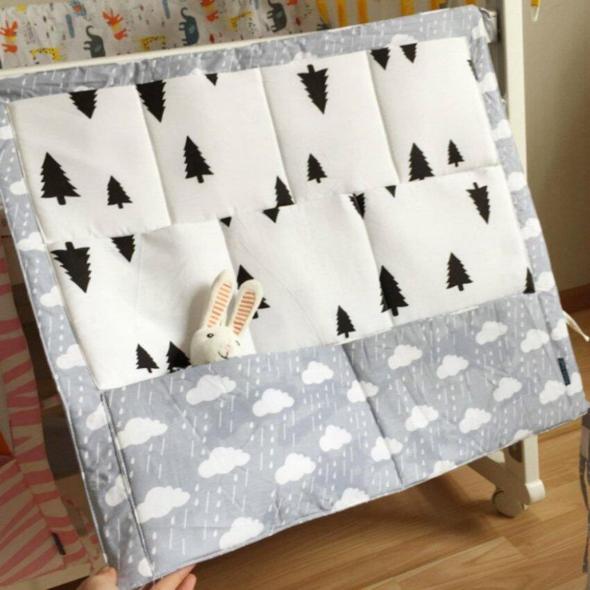 Baby Bed Hanging Storage Bag Cotton Newborn Crib Organizer Toy Diaper Pocket for Crib Be ...