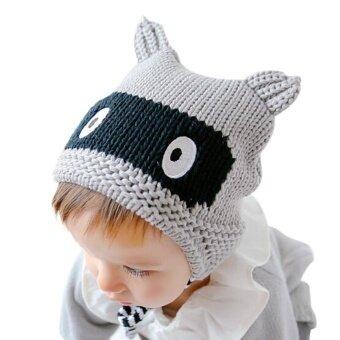 Baby Toddler Boy Girl Cap Knitted Crochet Ear Print Beanie Winter Warm Cap GY - intl