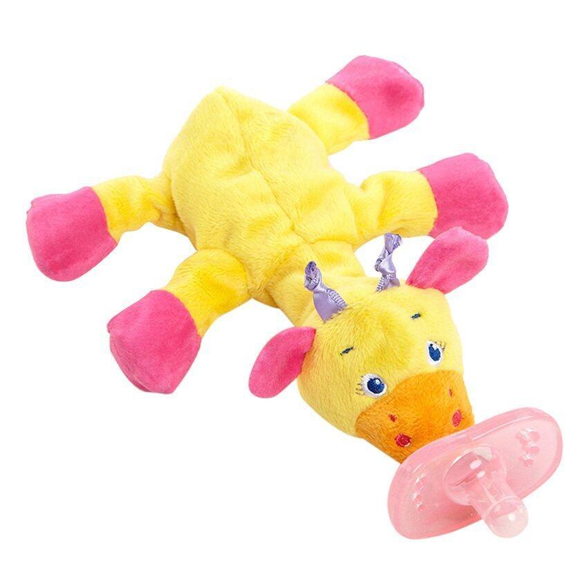 Bright Starts จุกนมหลอก Cozy Coos in Pink (Giraffe) ...