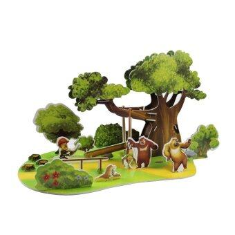 Children's Educational Manual Assembly Toy and Gift of Bears In The Forest