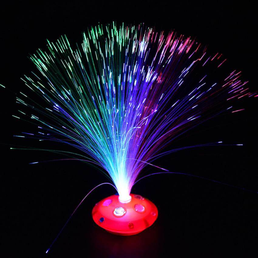 Colorful Changing LED Fiber Optic Night Light Lamp Stand Home Garden Decor - intl