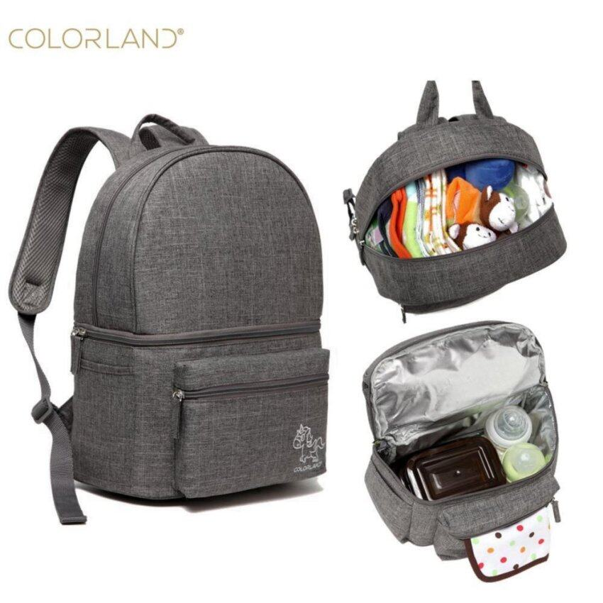 Colorland Diaper Bag Backpack Baby Feeding Bottle Bag For Dad Mummy Maternity Nappy Bag  ...