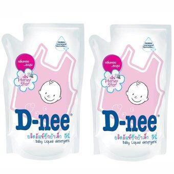 D-neeน้ำยาซักผ้าเด็ก กลิ่นHoney Starชนิดเติม ขนาด600มล. (แพ็ค2)