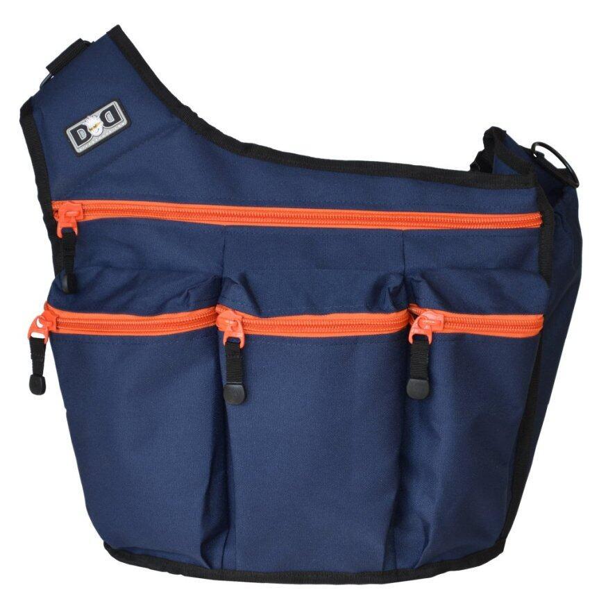Diaper Dude กระเป๋าผ้าอ้อม สำหรับคุณพ่อ รุ่น Messenger I – สีน้ำเงิน ซิปส้ม