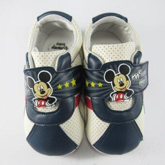 Disney Mickey Mouse รองเท้าผ้าใบ เด็กชาย ดิสนีย์ มิคกี้ เมาส์ สีกรม