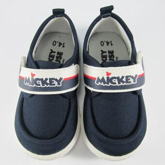 Disney Mickey Mouse รองเท้าผ้าใบ เด็กชาย ลาย มิคกี้เมาส์ สีกรม