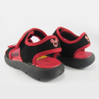 Disney Mickey Mouse รองเท้ารัดส้น เด็กชาย ดิสนีย์ มิคกี้เมาส์ สีดำ