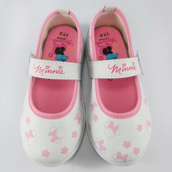 Disney Minnie Mouse รองเท้าคัชชู เด็กหญิง ดิสนีย์ มินนี่ เมาส์ สีขาว