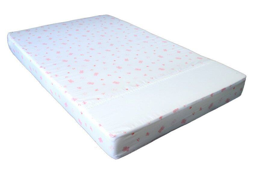 D.S. ที่นอน Size E หนา 3 ลายพิมพ์ หมี DS - Pink