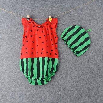ELIBELLA เสื้อเด็ก ชุดเด็กเล็ก แรกเกิด ถึง 1 ปี รุ่น ผลไม้ตัวจิ๋ว ลาย แตงโม