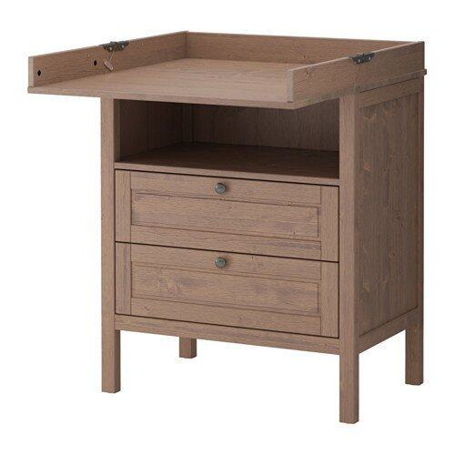 Ezy Decor โต๊ะเปลี่ยนผ้าอ้อมพร้อมตู้ลิ้นชัก (Brown)