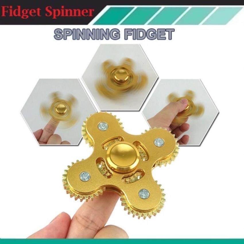 Fidget Spinner EDC hand spinner four tooth linkage aluminum alloy gears ...