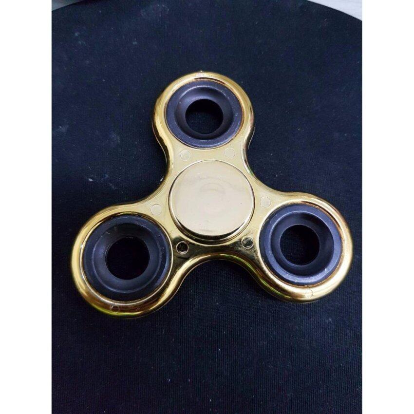 Fidget Spinner ลูกข่างมือหมุน finger gyro Tri-s Pinner ของเล่นอยู่ไม่สุข, รุ่นโครเมี่ยม