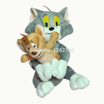 "Free Shipping 2pcs/set Baby Toys Cat Tom And Jerry Mouse 10"" Plush Doll Figure"