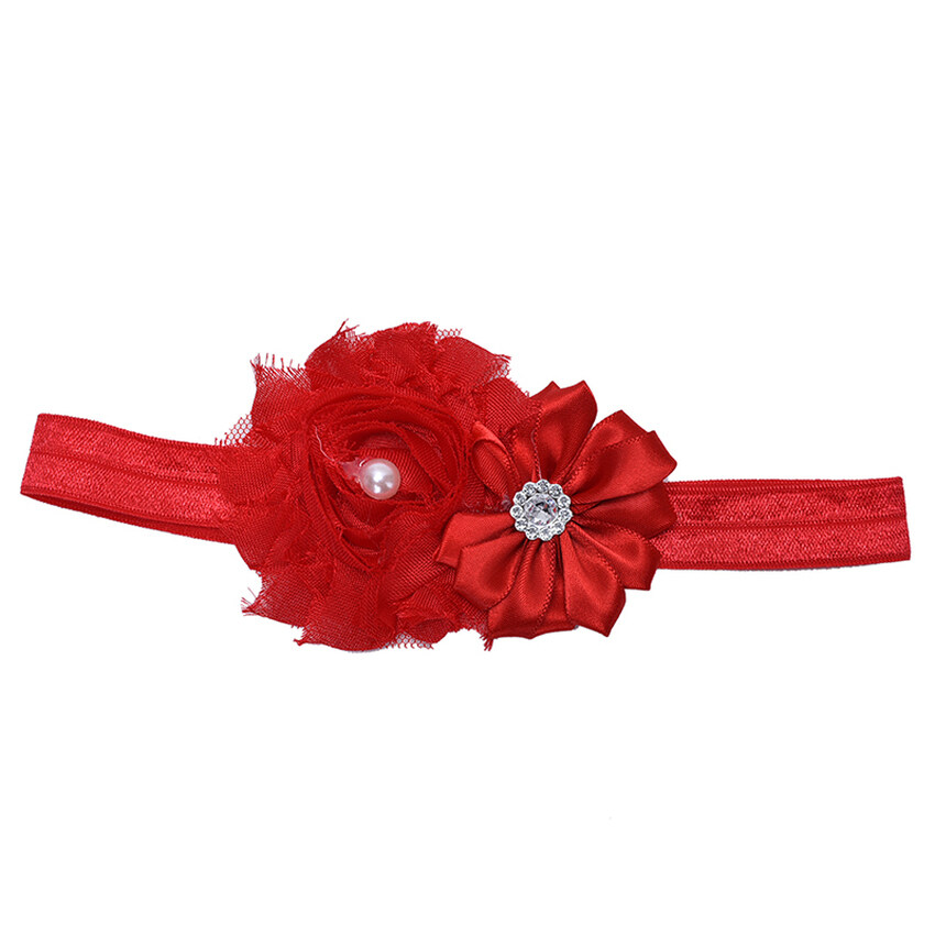 GDS Lace Flower Headbands Fashion Tiara Accessory Baby Girls Elasticlovely Hairband Red  ...