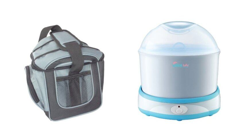 GRACE KIDS กระเป๋าเก็บนมและอาหาร + GRACE KIDS เครื่องนึ่งขวดนมรุ่นไฮพาวเวอร์ ...