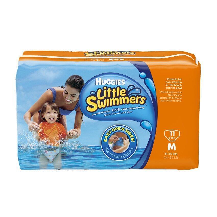 Huggies Little Swimmers ไซส์ M 11 ชิ้น กางเกงผ้าอ้อมสำหรับใส่ว่ายน้ำ
