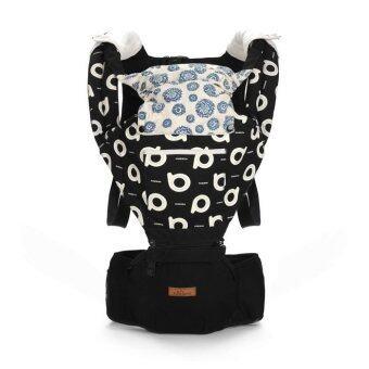 Aiebao เป้อุ้มเด็ก ที่นั่งคาดเอว hipseat+carrier รุ่น Premium Graffiti (Black)