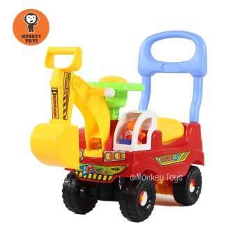 Monkey Toys รถขาไถ แม็คโคร เล็ก (สีแดง)
