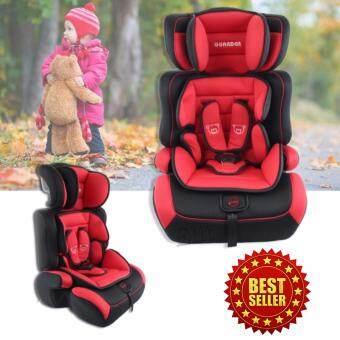 Elit คาร์ซีท 3 in 1 เบาะนิรภัยสำหรับเด็กอายุ 9 เดือน ถึง 6 ปี เบาะนั่งในรถ (แดง-ดำ)
