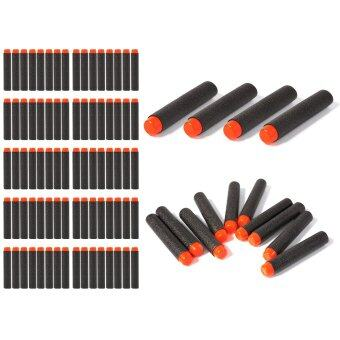 ลูกปืนของเล่น 100pcs 7.2cm EVA Refill Bullet Darts Black สำหรับ Nerf N-strike Elite Series Blasters Kid Game Toy Gun