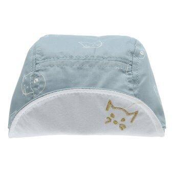 EOZY ใหม่แมวเด็กน่ารักแฟชั่นรูปแบบปีกหมวกเบสบอลผ้านุ่มตุ่นปากเป็ดกัปตันอ้วนใส (สีน้ำเงิน) (image 2)