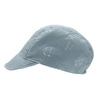 EOZY ใหม่แมวเด็กน่ารักแฟชั่นรูปแบบปีกหมวกเบสบอลผ้านุ่มตุ่นปากเป็ดกัปตันอ้วนใส (สีน้ำเงิน) (image 3)