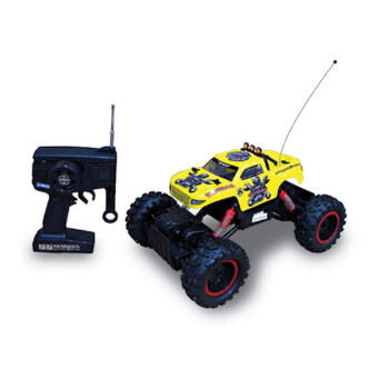 รถบังคับวิทยุ รถบังคับไฟฟ้า รถบิ๊กฟุต ไต่หินบังคับ Rock Crawler King 4WD 1:12 -( Yellow)