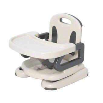 2Kids เก้าอี้เสริมทานข้าวปรับระดับได้ (ขาว) image