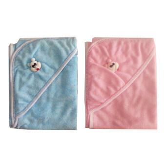 JUJU ผ้าข่นหนูห่อตัวเด็ก แพ็ค 2 ชิ้น (สีชมพู/ฟ้า)
