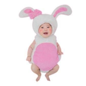 BabyGaga ชุดแฟนซี ชุดแฟนซีเด็ก ชุดเด็ก กระต่าย ขาว - ชมพู