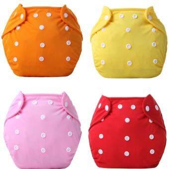 กางเกงผ้าอ้อมนาโน ซักได้ ชนิดกันน้ำ 5 ชิ้น แถมแผ่นผ้าซับปัสสาวะ 7 ชิ้น (สีชมพู+ส้ม+แดง+ม่วง+เหลือง)
