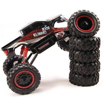 Gadget รถบิ๊กฟุตบังคับวิทยุ4WD Rock Crawler 2.4ghz 1/14 ( Black )