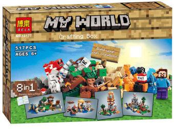 LELE ตัวต่อ Minecraft Crafting Box